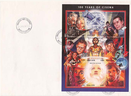 """Block of 9 stamps """"Celebrity movie"""" 