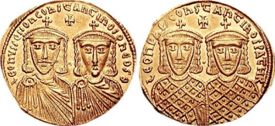 Emperors Leo IV and Constantine VI (husband and son of Empress Irene) | Hobby Keeper Articles