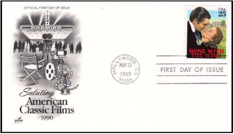 """Envelope of the first day """"gone with the wind"""" 