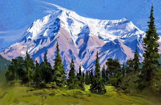 Painting made using the sketching technique   Hobby Keeper Articles