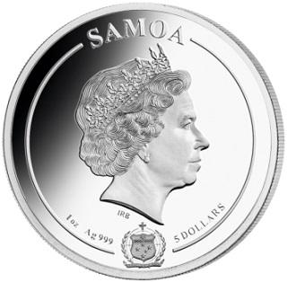 $ 5 coin, 2019, Samoa   Hobby Keeper Articles