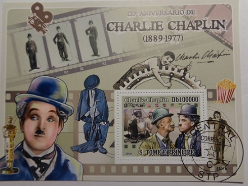 Postage stamp with Chaplin, 2009 | Hobby Keeper Articles