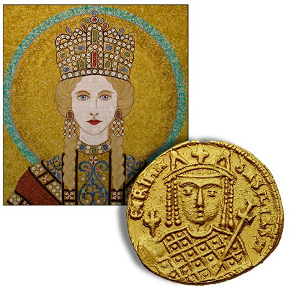 Solid of the Empress Irene with her portrait | Hobby Keeper Articles