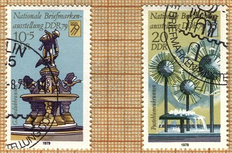 "Postage stamp ""Dresden fountains"", 1979, GDR 