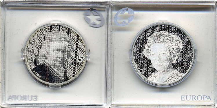 5 Euro coin Rembrandt   Hobby Keeper Articles