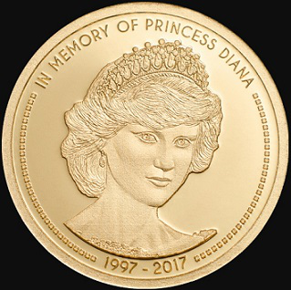 $ 5 coin with Diana on the reverse, 2017, cook Islands   Hobby Keeper Articles