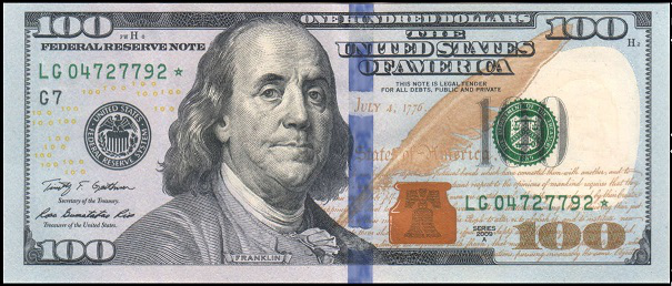 $ 100 banknote, USA, 2009 | Hobby Keeper Articles
