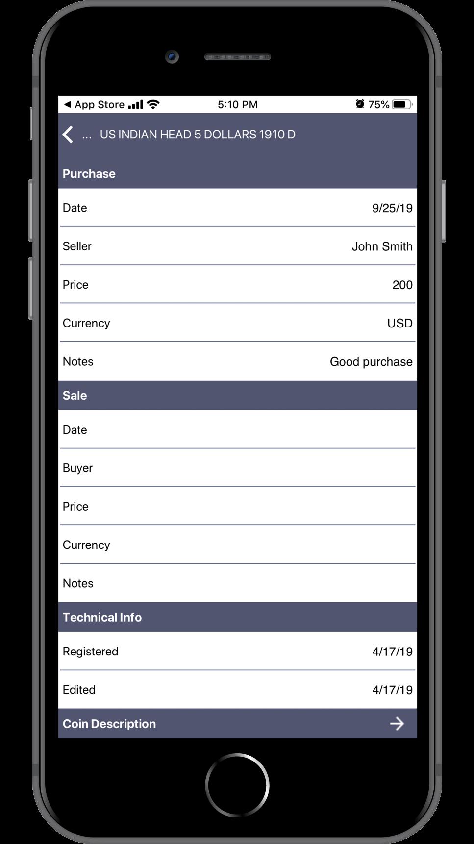 NUMISMATIST'S SAFE iOS APP. IOS 0