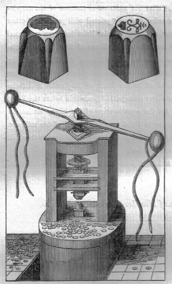 Stamps and a machine for minting coins of the XIX century | Hobby Keeper Articles