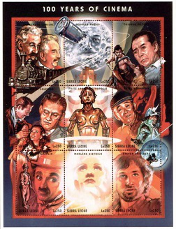 """Series of 9 stamps """"Celebrity movie"""" 