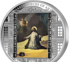 Easter silver coin 20 dollars, F. Goya-Christ in Gethsemane, 2020, cook Islands   Hobby Keeper Articles