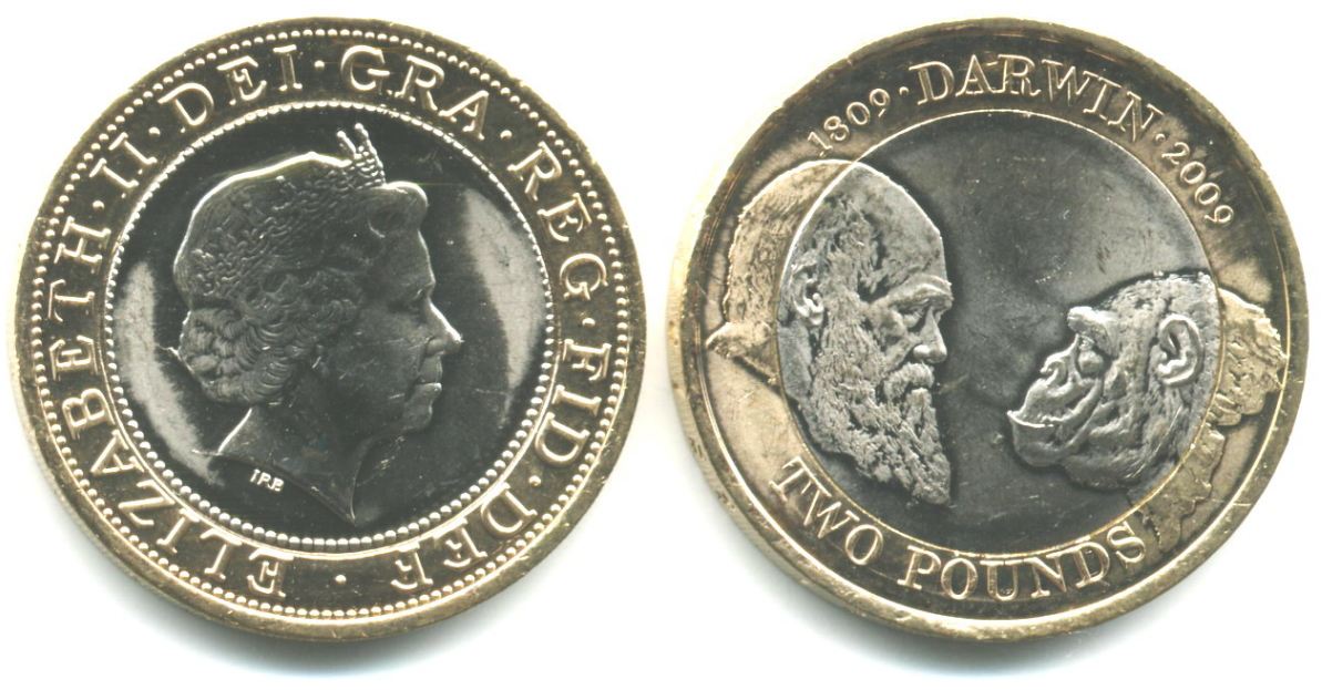 Coin Darwin on 2 pounds | Hobby Keeper Articles