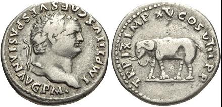 Elephant on Titus ' denarius | Hobby Keeper Articles