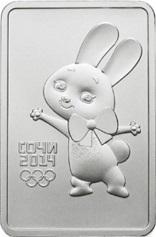 "Silver coin ""Zayka Sochi 2014"" | Hobby Keeper Articles"