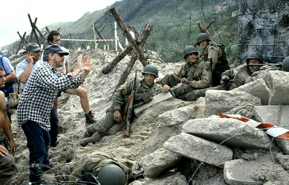 """Photos from the filming of """"Saving private Ryan"""" 