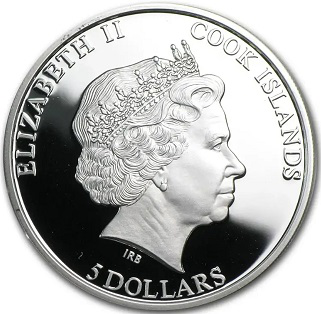5 dollar coin, 2012, cook Islands | Hobby Keeper Articles