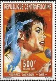 Michael Jackson stamp, Central African Republic, 1995 | Hobby Keeper Articles
