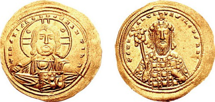 Coin of Constantine VIII: on the left — the face of Christ, on the right-the image of the Emperor | Hobby Keeper Articles