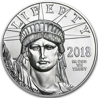 $ 25 platinum coin on the reverse of the Statue of Liberty, USA, 2018 | Hobby Keeper Articles