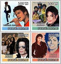 A series of stamps with Michael Jackson, 2007, Guinea-Bissau | Hobby Keeper Articles