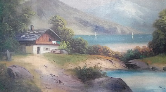 """Hitler's painting """"The House by the Lake"""", 1910   Hobby Keeper Articles"""