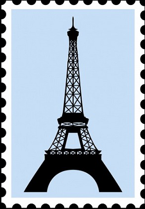 Stamp with the image of the Eiffel tower   Hobby Keeper Articles