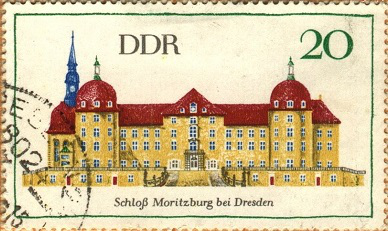 "Postage stamp ""Castle-Moritzburg"", 1968 