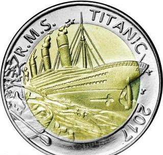 Titanic 50 franc coin on reverse, Burkina Faso, 2017 | Hobby Keeper Articles