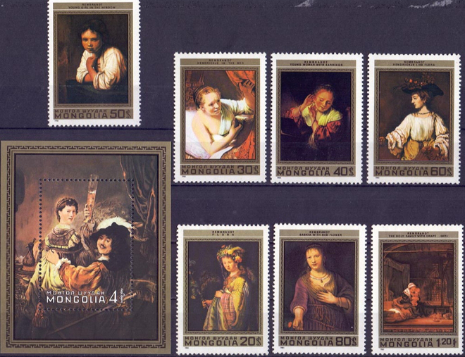 Set of stamps of Mongolia to the paintings of Rembrandt   Hobby Keeper Articles