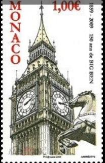 "Postage stamp 1 Euro ""big Ben"", Monaco   Hobby Keeper Articles"