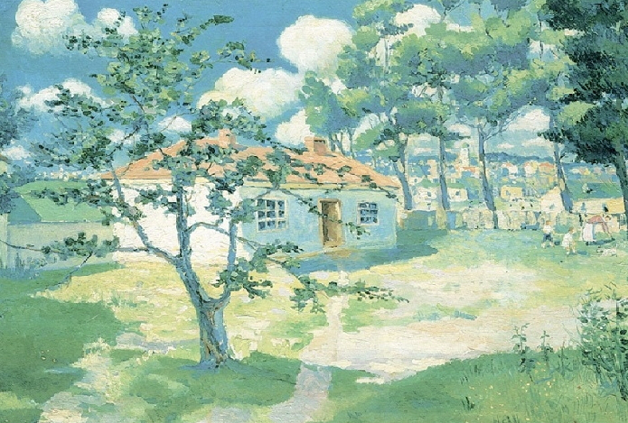 """Malevich painting """"Blooming Apple trees"""" 