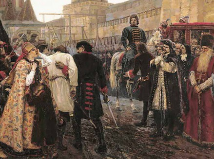 """Painting by V. Surikov """"The Morning of the Streltsy execution"""", 1881 