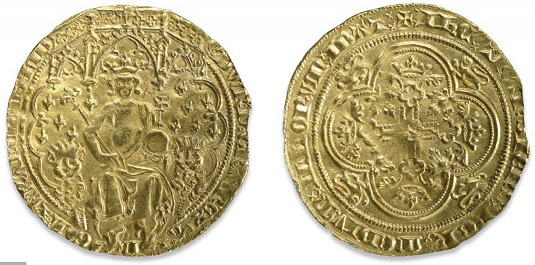 """Gold coin """"Double Leopard"""" 