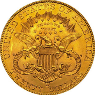 Gold coin 20 dollars reverse, 1907, USA | Hobby Keeper Articles