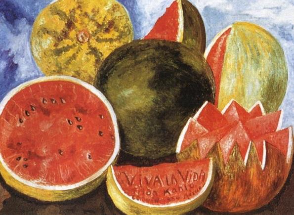 "Frida Kahlo's painting "" Viva la vida! Watermelons "" | Hobby Keeper Articles"