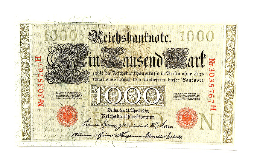 1000 mark banknote, 1910, Germany | Hobby Keeper Articles