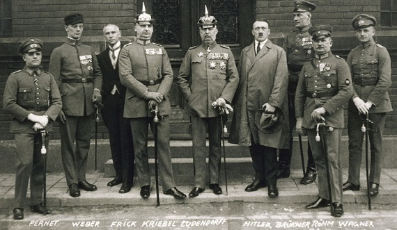 Photo In the center of Ludendorff, to the right of him Hitler, then Rehm | Hobby Keeper Articles