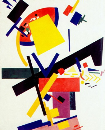"""The picture of Malevich's """"Suprematist composition"""" 