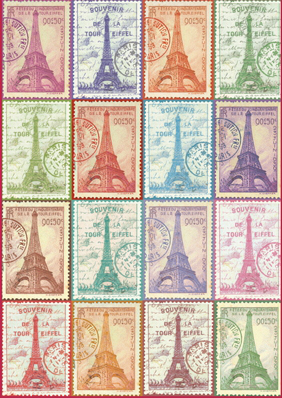 A series of stamps depicting the Eiffel tower | Hobby Keeper Articles