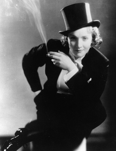 Photo of Marlene Dietrich in a men's suit | Hobby Keeper Articles