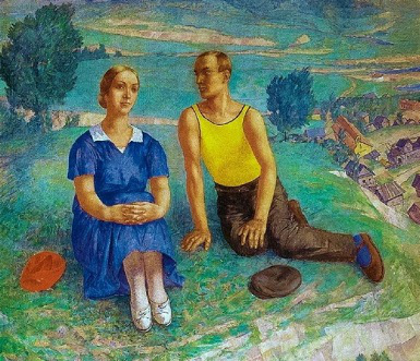 """Petrov-Vodkin's painting """"Spring"""", 1935