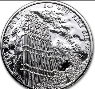 """Silver coin of great Britain """"big Ben"""", 2017, great Britain   Hobby Keeper Articles"""
