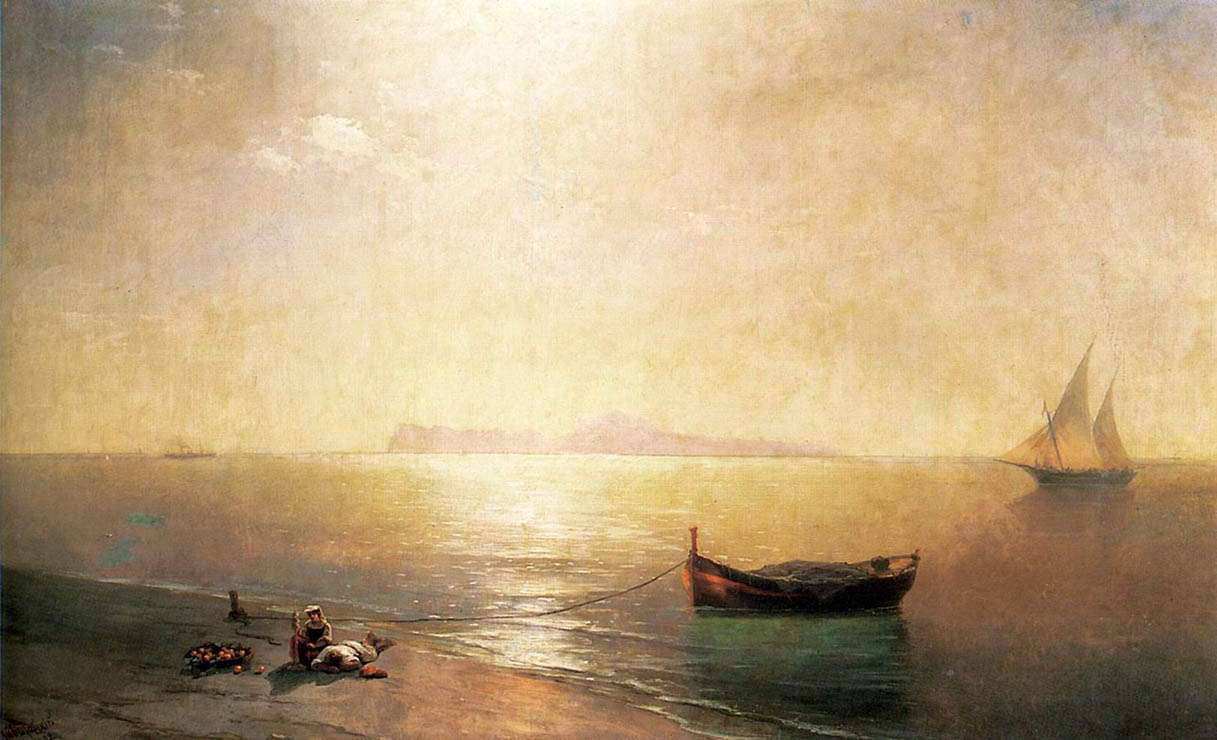 """The Painting """"The Calm"""" By Aivazovsky 