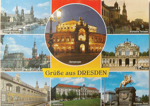 German postcard with views of socialist Dresden | Hobby Kepper Articles