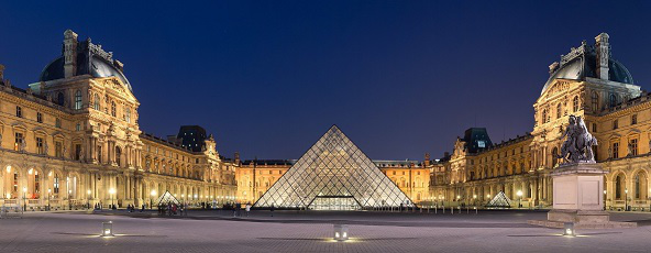 The site of the Louvre Palace with its pyramid at night. Photo 2010   Hobby Keeper Articles