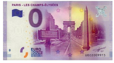 """0 Euro banknote """"Champs Elysees"""", 2017, France   Hobby Keeper Articles"""