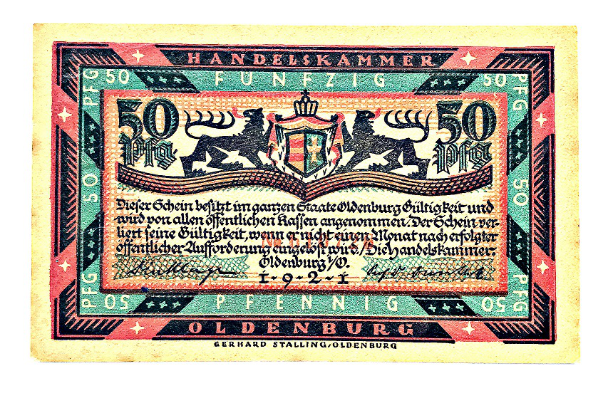 50 pfennings bill obverse, Germany | Hobby Keeper Articles