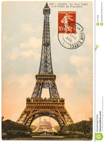 Postcard with the Eiffel tower   Hobby Keeper Articles