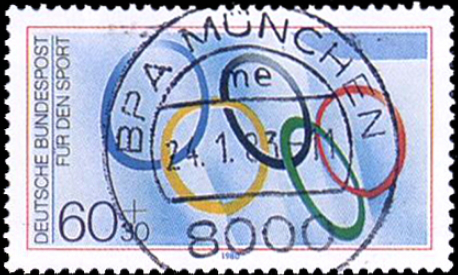 Postage stamp 60+30 pfennings, Germany, 1980 | Hobby Keeper Articles