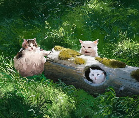 Cat's sweetness in the paintings of Sotervik   Hobby Keeper Articles